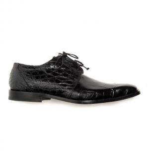 Mauri Bartolomco 53141-1 Alligator Derby Shoes Black (SPECIAL ORDER) Image