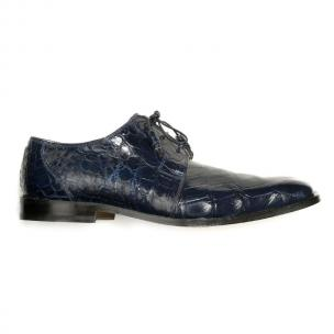 Mauri Bartolomco 53141-1 Alligator Derby Shoes Blue (SPECIAL ORDER) Image