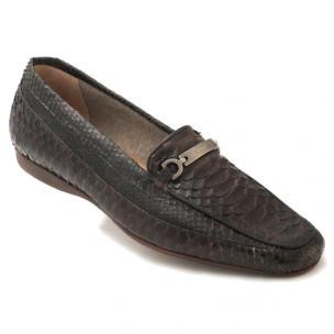 Mauri Blanc 9233 Python Loafers Brown Image