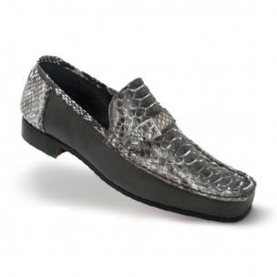 Mauri Ca'd'oro 3942 Python & Nappa Loafers Gray Image
