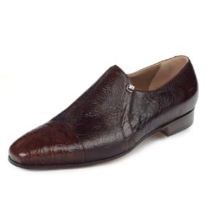 Mauri Danieli 4528 Alligator & Peccary Cap Toe Loafers Brown (SPECIAL ORDER) Image