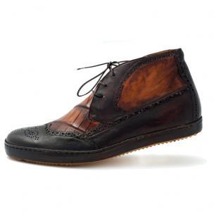 Mauri D'este 8563 Wingtip Brogue Sneaker Boot Sport Rust Image