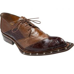 Mauri Garda 44255 Ostrich & Alligator Lace Up Shoes Land / Cork (SPECIAL ORDER) Image