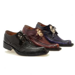 Mauri Leone 44191 Hand Painted Alligator & Calfskin Shoes Image