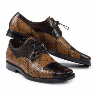 Mauri M620 Caravaggio Ostrich & Fabric Shoes Rust / Brown Image