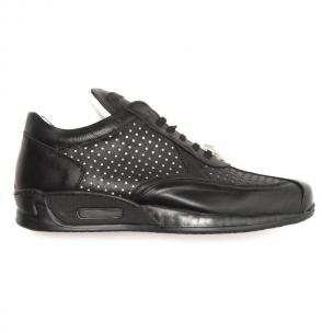 Mauri Cherry M770 Nappa & Croc Sneakers Black Image