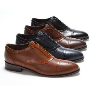Mauri M798 Torino Calfskin & Alligator Cap Toe Shoes (SPECIAL ORDER) Image