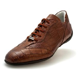 Mauri Selva 8673 Alligator Sneakers Tobacco Image