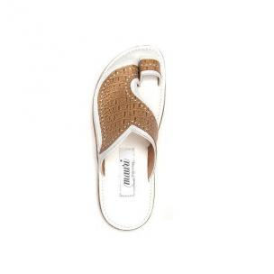 Mauri Torre 1649 Lizard & Nappa Sandals Sand / White (SPECIAL ORDER) Image