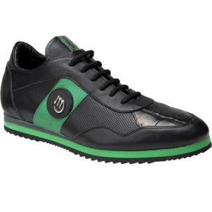 Mauri Varieta 8652 Nappa & Baby Crocodile Sneakers Black/Green Image