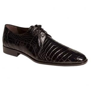 Mezlan Abano Alligator Derby Shoes Blue Image
