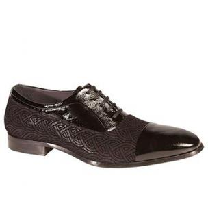 Mezlan Aberdeen Embossed Suede Cap Toe Formal Shoes Image