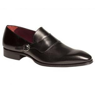 Mezlan Alari Monk Strap Shoes Black Image
