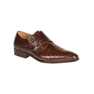 Mezlan Agra Alligator Double Monk Strap Shoes Sport Image