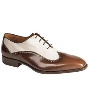 Mezlan Alsina Oxford Spectator Shoes Cognac / Pearl Image