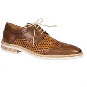 Mezlan Alvarez Perforated Sport Shoes Cognac Image