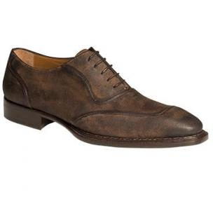 Mezlan Ambrose Suede Oxfords Tan Image