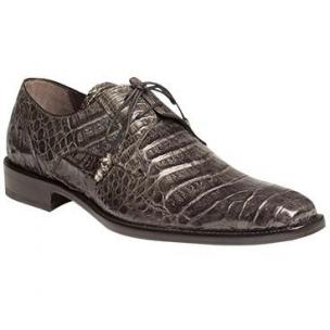 Mezlan Anderson Crocodile Derby Shoes Gray Image