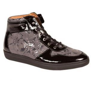Mezlan Andorra Embossed Camouflage Sneakers Black/Gray Image