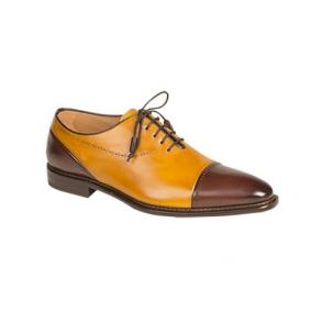 Mezlan Antico Spectator Oxfords Brown / Mustard Image
