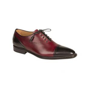 Mezlan Antico Spectator Oxfords Burgundy / Black Image