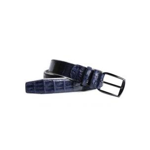 Mezlan AO10354 Crocodile Belt Blue Image