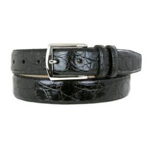 Mezlan AO7367 Genuine Crocodile Belt Black Image