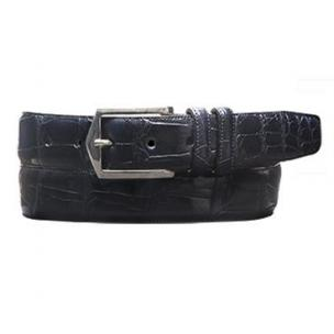 Mezlan AO7645 Genuine Alligator Belt Blue Image