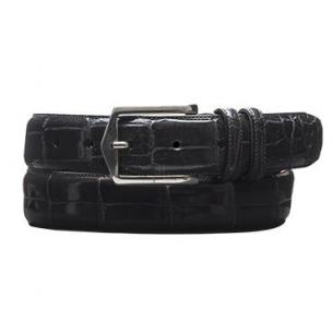 Mezlan AO7645 Genuine Alligator Belt Gray Image