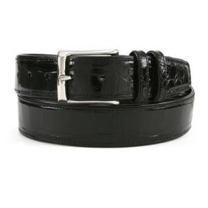 Mezlan AO7907 Genuine Alligator Belt Black Image