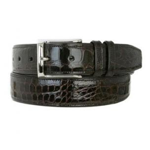 Mezlan AO7907 Genuine Alligator Belt Dark Brown Image