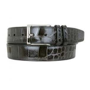 Mezlan AO7907 Genuine Alligator Belt Gray Image