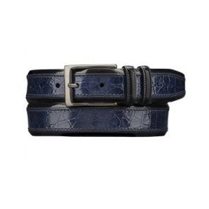 Mezlan AO8597C Genuine Crocodile Belt Blue Image