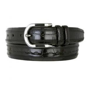 Mezlan AO8869 Genuine Alligator Belt Black Image