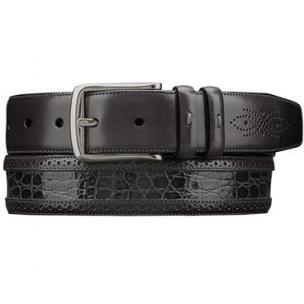 Mezlan AO9654 Genuine Crocodile  & Calfskin Belt Gray Image