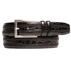 Mezlan AO9655 Crocodile Belt Black Image