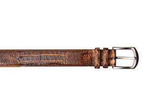 Mezlan AO9657 Genuine Crocodile Belt Cognac / Camel Image