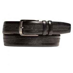 Mezlan AO9928 Lizard Belt Black Image