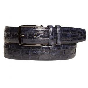 Mezlan AO9929 Crocodile Belt Blue Image