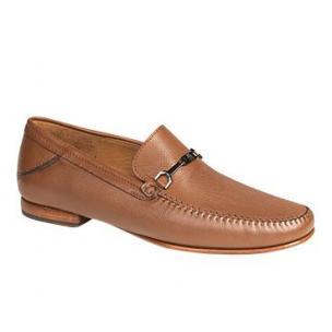 Mezlan Aranda Tumbled Calfskin Bit Loafers Cognac Image
