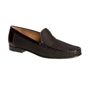 Mezlan Assisi Glass Beaded Loafers Black Image