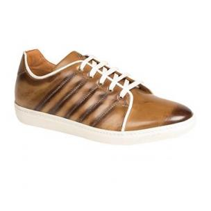 Mezlan Balboa Hand Burnished Sneakers Cognac Image