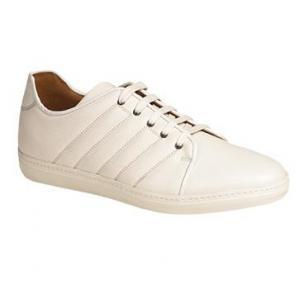Mezlan Balboa Soft Calfskin Sneakers White Image