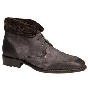 Mezlan Balestra Suede Boots Fur Lining Gray Image