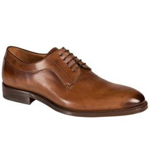 Mezlan Basel Plain Toe Derby Shoes Cognac Image