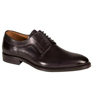 Mezlan Basel Plain Toe Derby Shoes Graphite Image