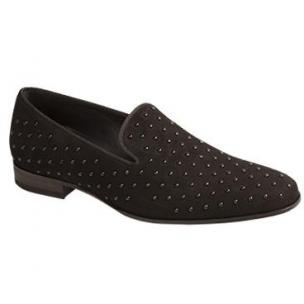 Mezlan Batiste Suede Beaded Loafers Black Image