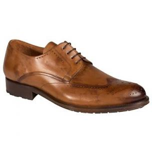 Mezlan Bilbao Wingtip Derby Shoes Tan Image