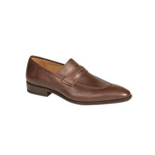 Mezlan Bione Calfskin Penny Loafers Brown Image