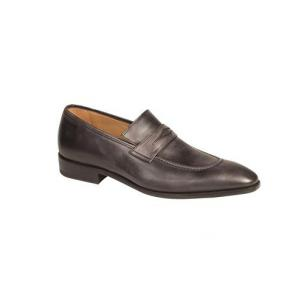 Mezlan Bione Calfskin Penny Loafers Graphite Image